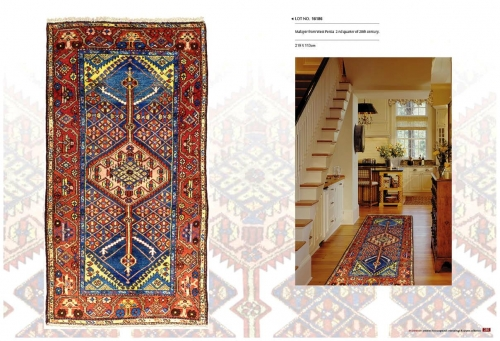 Natural colourful  Rugs Lot NO.16186 Malayer from west persia 2nd quarter of 20th century 219 x 113 cm Created By Sameyeh Posted By Sh.Sameyeh Pte Ltd