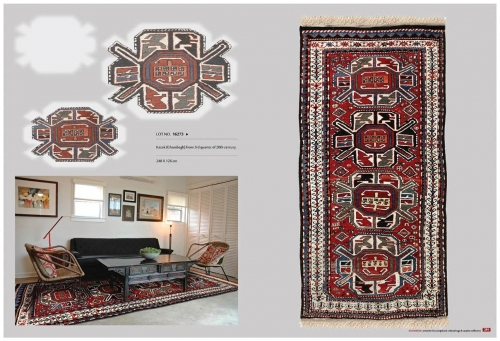 colectable caucasian Oriental Rug Lot No. 16273 kazak -gharabagh 3th quarter of 20th century 248 x 126 cm Created By Sameyeh Posted By Sh.Sameyeh Pte Ltd