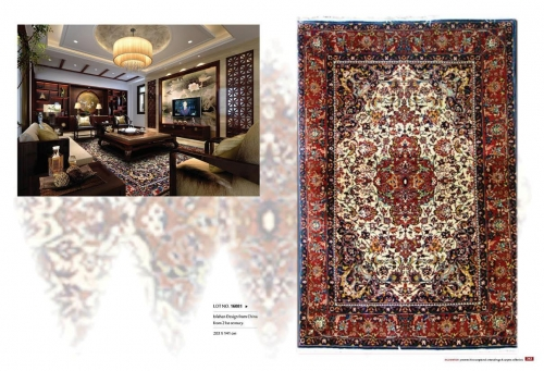 Hand Knotted Oriental rugs Lot NO. 16081 Isfahan design from 21st century 203 x 141 cm Created By Sameyeh Posted By Sh.Sameyeh Pte Ltd