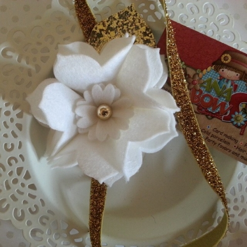 Elastic head band (size: +1year) Created By  Posted By Ana's Bows