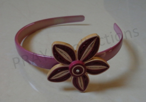 Floral Hair Band Created By  Posted By Praya Collections