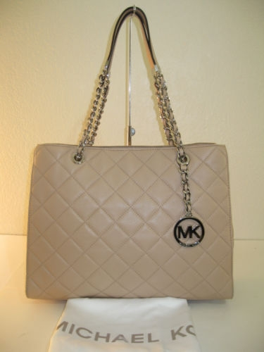 Authentic Michael Kors Susannah Blush Beige Quilted Leather Tote Created By Michael Kors Posted By Love2shop4less