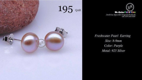 100% Natural Cultured Freshwater Pearls-Earrings Created By  Posted By Bbqatar Kollections