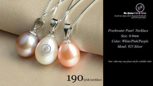 Natural Cultured Freshwater Necklace Created By  Posted By Bbqatar Kollections