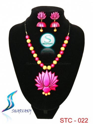 Lotus Jewellery Set Created By Sharvany Posted By Sharvany Terracotta Collections