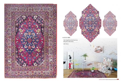 colectable rugs LOT NO. 16215 TABRIZ HAJIJALILI FROM NORTH WEST PERSIA 4TH QUARTER OF 20TH CENTURY   210 X 143 CM  READY TO USE. Created By Sameyeh Posted By Sh.Sameyeh Pte Ltd
