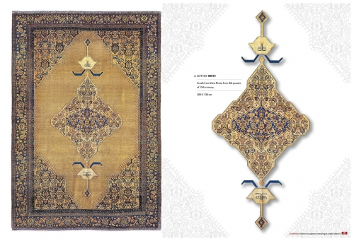 Collectable oriental rugs  00043 seneh from west persia from 4th quarter of 19th century 200 x 136 cm Created By  Posted By Sh.Sameyeh Pte Ltd
