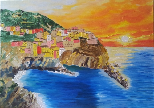 Cinque Terre Created By Stefka Hristova Posted By Stefka Hristova