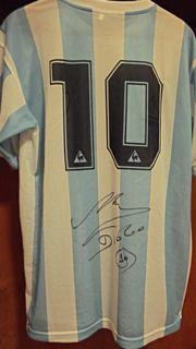 Diego Maradona Argentina Signed Shirt Created By ? Posted By Derek Lyon