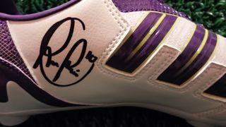 Robin Van Persie Signed Boot Created By Adidas Posted By Derek Lyon