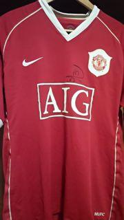 Rio Ferdinand Matchworn and Signed Shirt Created By Nike Posted By Derek Lyon