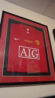 Ryan Giggs Manchester United Signed Shirt Framed Created By Nike Posted By Derek Lyon