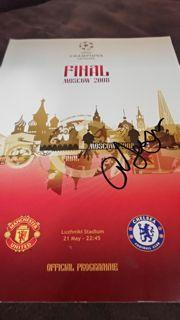 Sir Alex Ferguson Signed Programme Created By NA Posted By Derek Lyon