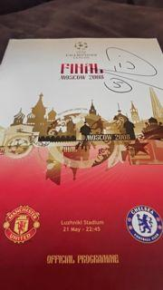 Rio Ferdinand Signed Programme Created By NA Posted By Derek Lyon