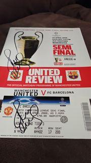 Paul Scholes Signed Programme and Match Ticket Created By NA Posted By Derek Lyon