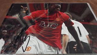 Louis Saha Signed Picture Created By NA Posted By Derek Lyon