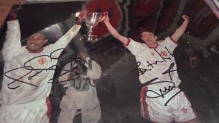 Paul Ince and Steve Bruce Signed Picture Created By NA Posted By Derek Lyon