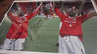 Dwight Yorke Signed Picture Created By NA Posted By Derek Lyon