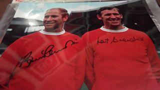 Bobby Charlton and Paddy Crerand Signed Picture Created By NA Posted By Derek Lyon
