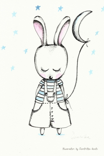 Bunny with the Moon Created By Dominika Bozic, Les Chérubins Posted By Les Cherubins