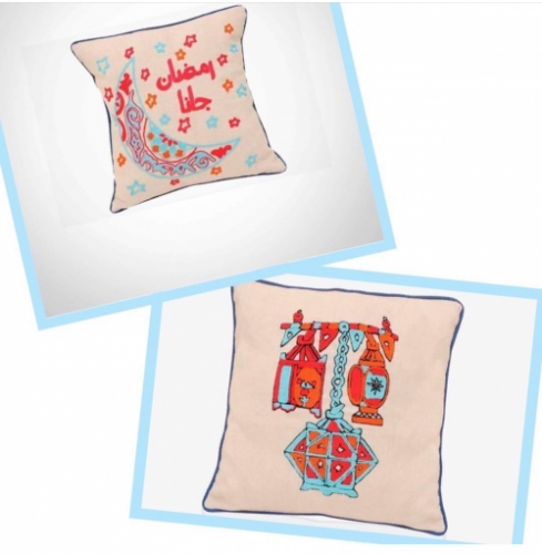 Ramadan Embroidered Cushions Created By  Posted By Cosy Corner