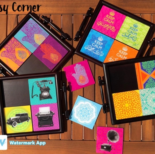 Coaster trays Created By  Posted By Cosy Corner