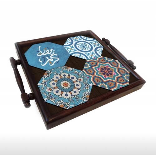 Tiles Coaster tray Created By  Posted By Cosy Corner