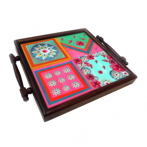 Floral Coaster tray Created By  Posted By Cosy Corner