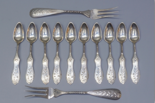 Silver Coffee Spoons Created By  Posted By Filipo & Teo