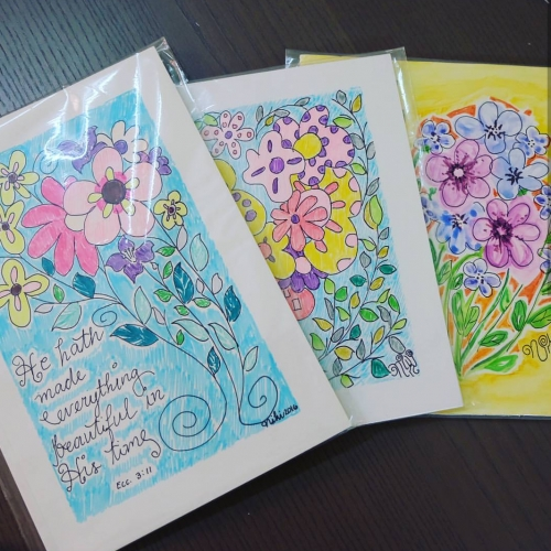 Handmarked Printed Florals Created By Irene Rose Niki O.S. Posted By Irene Rose