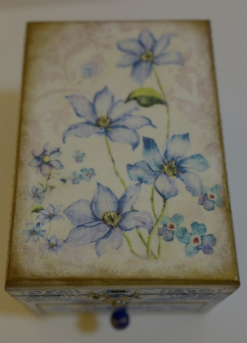 """Decoupage. Wooden box """" Wild flower"""" Created By  Posted By Slava"""