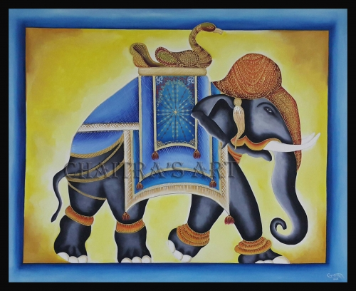 Royal Elephant Created By Artist Posted By Chaitra Somanath