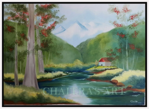 Scenery Created By Artist Posted By Chaitra Somanath