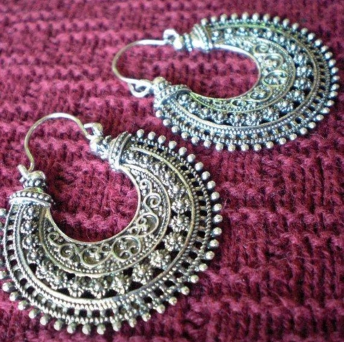 Vintage Tribal Afghan Chandbali Created By  Posted By Farah Naz