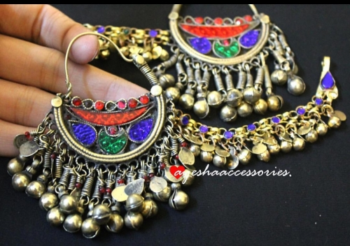 Afghan Earrings Created By Afghan Jewellery Posted By Farah Naz