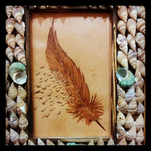Feather Painting Created By Wisam Posted By Al Sindan Pyrography