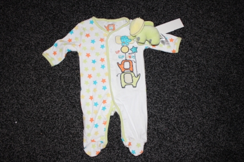 Boys babygrow and toy Created By Early Days UK Posted By Kids Fashion Qatar