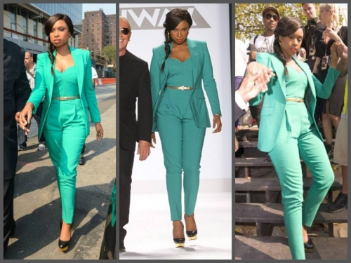 Jennifer Hudson Office/Casual Jumpsuit Created By  Posted By Aisha Fashion World