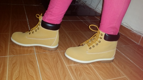 Timberland flat boots Created By  Posted By Aisha Fashion World