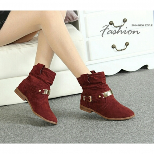 Burgundy designer ankle boots Created By Aisha Fashion World Posted By Aisha Fashion World