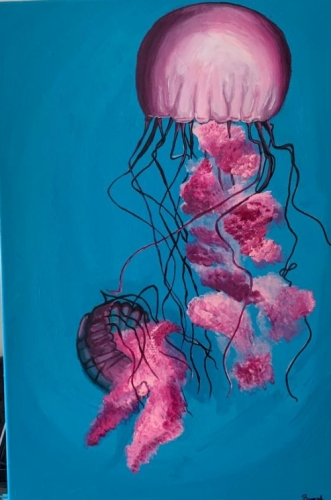 Pearl Jellyfish Created By  Posted By paintwithus