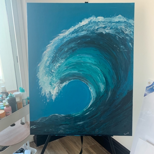 Wave 80*100 Created By BUKET ATABEK MELIS Posted By paintwithus
