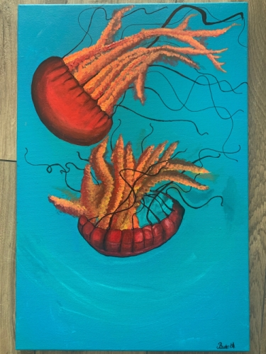 Fried jellyfish 40*60 Created By BUKET ATABEK MELIS Posted By paintwithus
