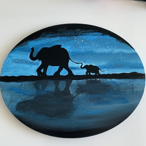 The elephants Created By Buket ATABEK MELIS Posted By paintwithus
