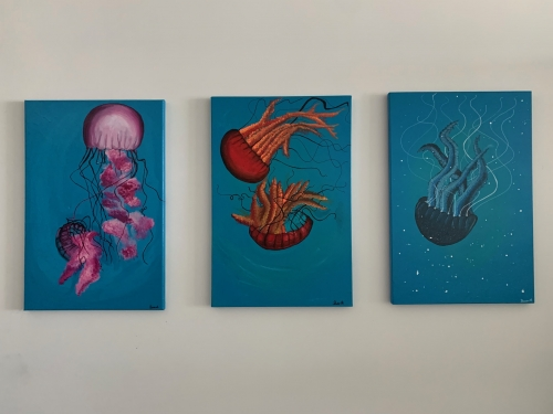 Jellyfish Set (3 pieces) Created By BUKET ATABEK MELIS Posted By paintwithus