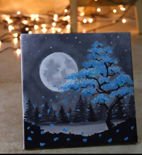 Night sky Created By Artist Samantha Posted By Samantha Viswas