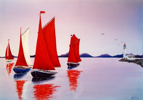 Morning Sailing Boats Created By  Posted By Calin Madescu