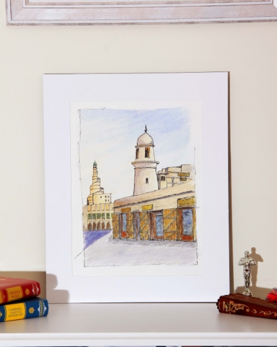 Mosque Minaret at Souq Waqif Created By Calin Madescu Posted By Calin Madescu