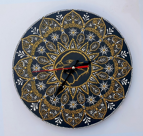Falcon, Mandala Wall Clock Created By Calin Madescu Posted By Calin Madescu