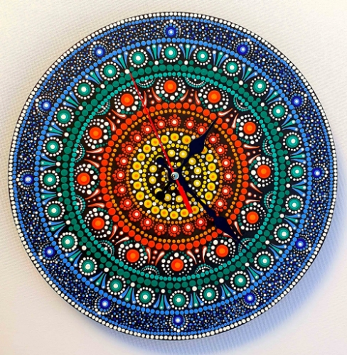 Wall Clock -Mandala-Dot Created By  Posted By Calin Madescu